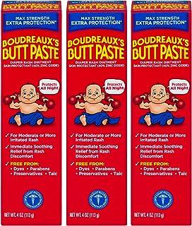 Sponsored Ad - Boudreaux's Butt Paste Maximum Strength Diaper Rash Ointment, 4 oz, 3 Pack