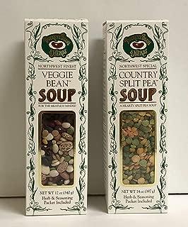 Buckeye Beans & Herbs Soup Variety Bundle of 2: Country Split Pea (14oz) And Veggie Bean Soup (12oz)