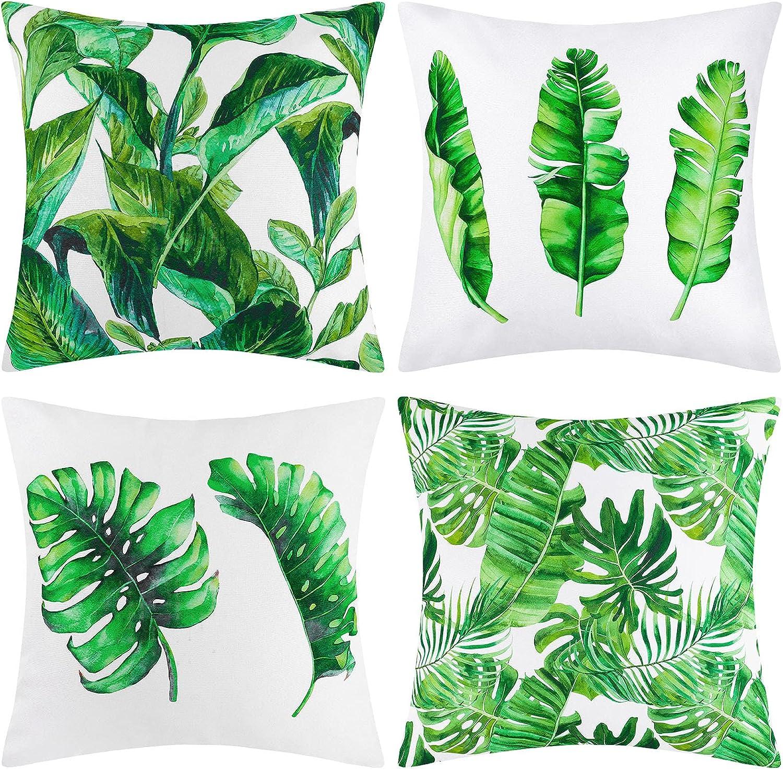 Buy Ruisita Set of 20 Waterproof Throw Pillow Covers Tropical ...