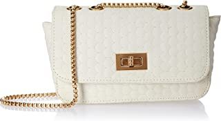 Envias Leatherette Side Sling Bags For Women's Ladies (Off-White_EVS-124)