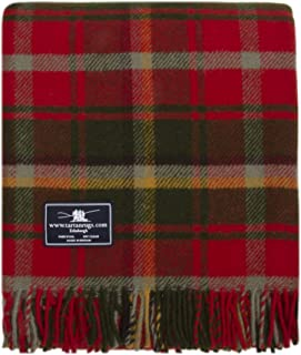 Tweedmill Textiles Dark Maple Tartan Premium Wool Throw