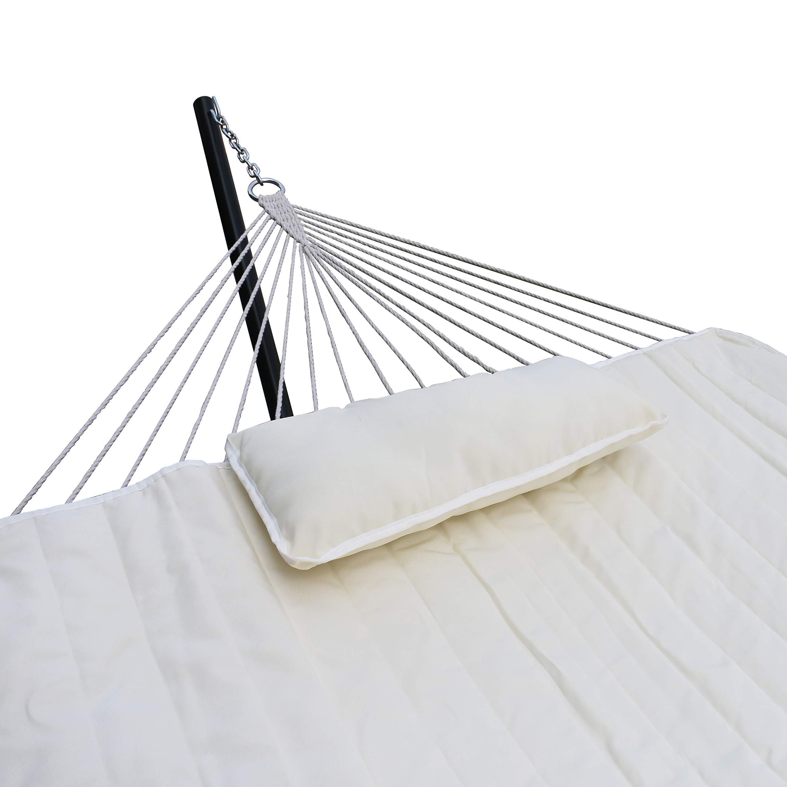 YOUKE Hamaca Doble con Soporte para 2 Personas, 200 × 150 cm, Elegante Diseño de Guitarra, Hamaca para Viaje, Balcón, Terraza, Columpio, Jardín, Carga máx. 200 kg, : Amazon.es: Jardín