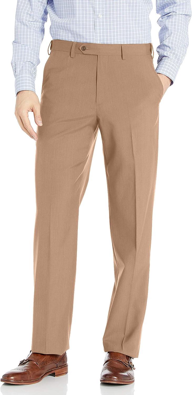 Palm Beach Men's Expander Plain Dress Pant Washable