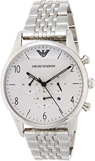 Emporio Armani Mens Quartz Watch, Analog Display and Stainless Steel Strap AR1879