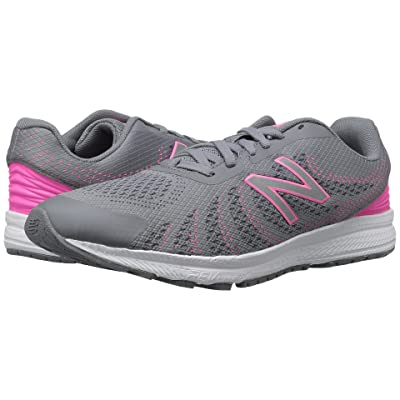 New Balance Kids FuelCore Rush v3 (Big Kid) (Grey/Pink) Girls Shoes