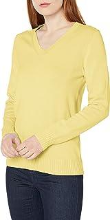 Amazon Essentials Jersey de Manga Larga 100% algodón con Cuello en V Chamarra para Mujer
