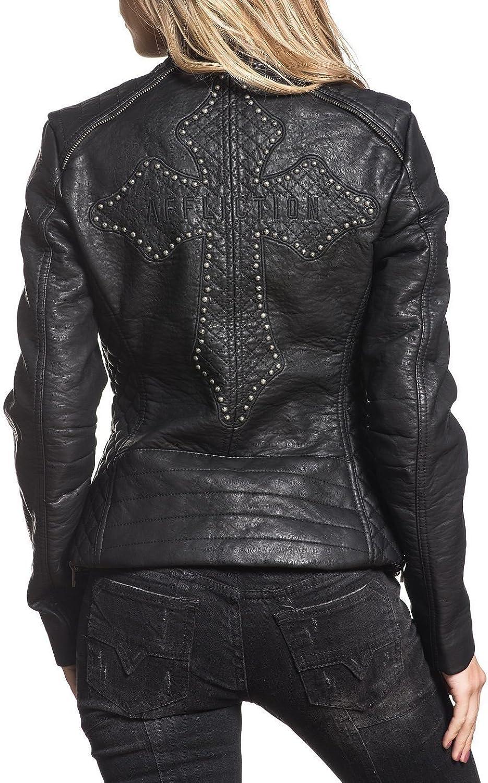 Affliction Women's Black Water Jacket Jacket Jackets