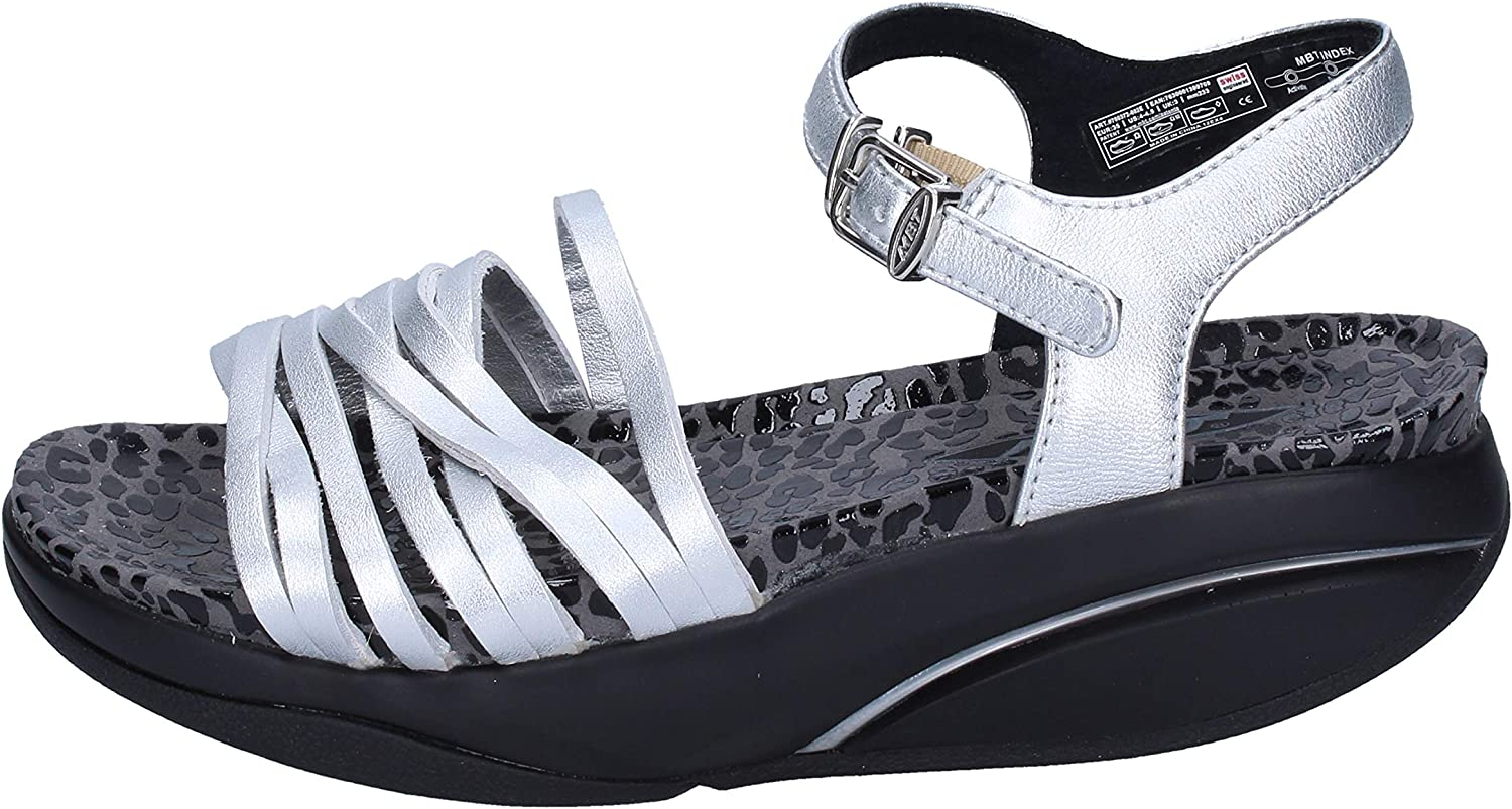MBT Sandals Womens Leather Silver
