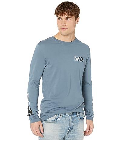 RVCA Lateral Long Sleeve T-Shirt (China Blue) Men