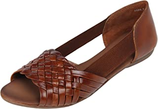 Catwalk Tan Flat Sandals