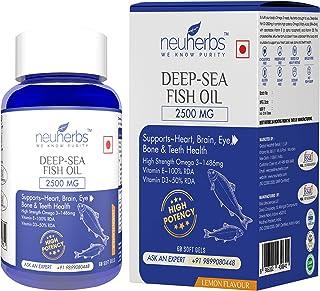 Neuherbs Deep Sea Omega 3 Fish Oil 2500 Mg (Omega 3 1400 mg; 892 mg EPA; and 594 mg DHA per serving) (1)