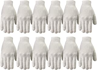 Wells Lamont Polyester Work Gloves, String Knit, 12 Pair Pack, Large (513LZ)