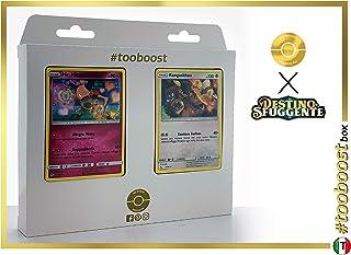 Mr. Mime 43/68 & Kangaskhan (Kangourex) 47/68 - #tooboost X Sol E & Luna 11.5 Destino Sfuggente - Coffret de 10 Cartes Pokémon Italiennes