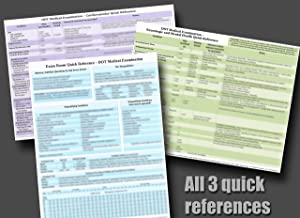 DOT Medical Exam Quick Reference - 3 pack = Neuro/Mental, Cardiovascular, and General