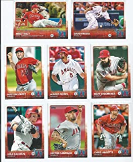 a5ccd671f4d Los Angeles Angels of Anaheim 2015 Topps MLB Baseball Regular Issue 19 Card  Team Set with