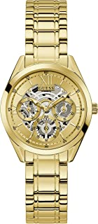 GUESS Women Quartz Watch with Stainless Steel Strap, Gold, 16 (Model: GW0253L2)