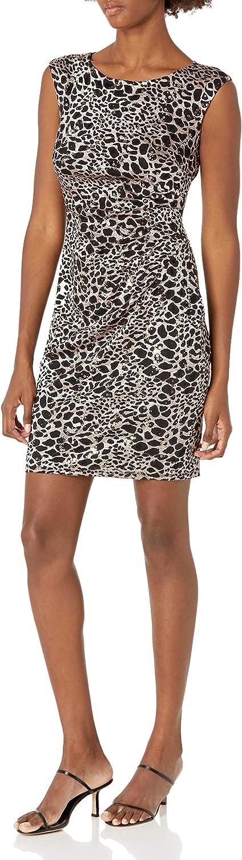 Jessica Howard Women's Petite Howard Sleeveless Side Tucked Sheath Dress