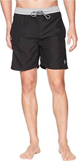 Contrast Waistband Swim Short