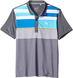 PUMA Golf Kids Road Map Asymmetrical Polo JR (Big Kids)