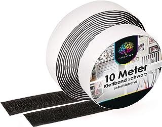 comprar comparacion iLP Cinta de vector negra autoadhesiva - 10 metros de largo aproximadamente, 20 mm de ancho - Fijación segura extra fuerte...