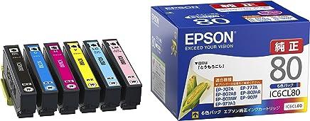 EPSON 爱普生 原装墨盒 玉米IC6CL80  標準タイプ