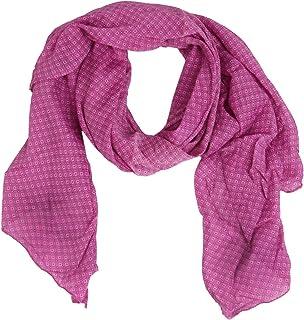 Zwillingsherz Seiden-Tuch Damen dezentes Muster - Made in Italy - Eleganter Sommer-Schal für Frauen - Hochwertiges Seidentuch/Seidenschal - Halstuch und Chiffon-Stola stilvolles Muster