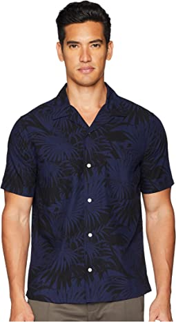 Vince Palm Leaf Cabana Short Sleeve Shirt