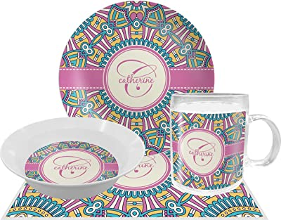 Bohemian Art Dinner Set - 4 Pc (Personalized)