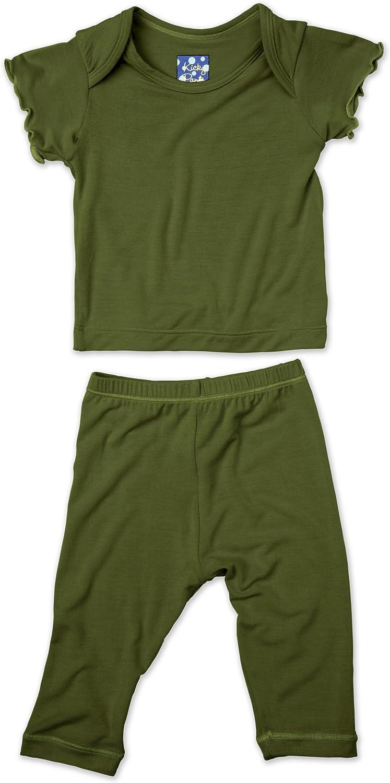 KicKee Pants Short Sleeved Pajama Set, Moss, Newborn
