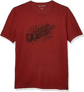 Lucky Brand Men's Short Sleeve Crew Neck Nashville Guitars Tee