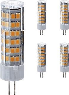 Bombilla LED G4 de 230 V, regulable, luz blanca fría, 5 unidades, 7 W equivalentes a 50 W, 500 lm, 6500 K, COB, lámpara LED, lámpara de lápiz, no apta para bombillas de 12 V.