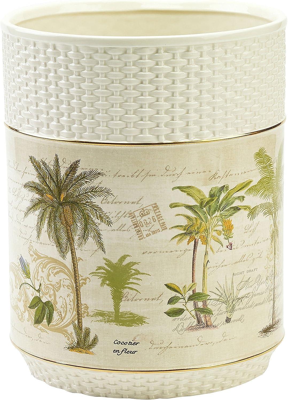 Avanti Linens 13668 fivr Kolonie Palm Abfallkorb, Größe M, Elfenbein B00ZASAMQE | Haltbar