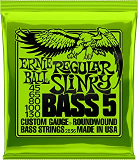 Ernie Ball 5-String Regular Slinky Nickel Wound Bass Set, .045 – .130