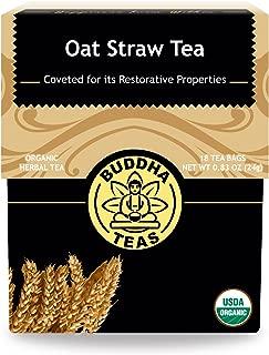 Organic Oat Straw Tea – 18 Bleach-Free Tea Bags – Caffeine-Free, Nutrient Dense, Alkalizing, Chemical-Free Herbal Tea with no GMOs, Kosher