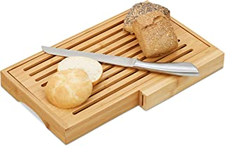 Relaxdays Paletta per pizza in bamb/ù 50 x 30 cm vassoio pizza angoli arrotondati con manico pala per pane beige