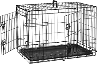 AmazonBasics Double-Door Folding Metal Dog Crate - 30 Inches