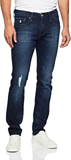 Armani Exchange Men's 5 Pocket Slim Pant, Denim Indigo