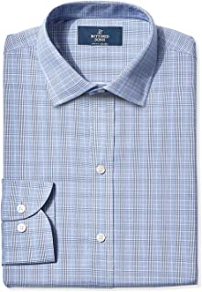 Buttoned Down mens Slim Fit Spread Collar Pattern Dress Shirt