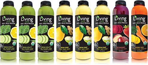 O2 Living Juice Cleanse Cold-Pressed Juice, No Sugar or Water Added, Loaded with Nutrients, Vitamins, Enzymes, and Minerals, Detox, Fruit Juice for Weight Loss (3-Day)