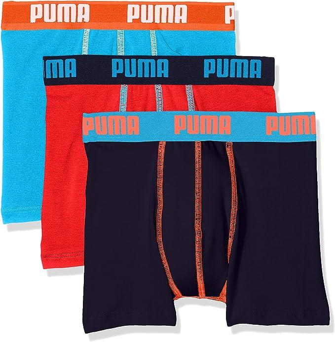 PUMA Promo Lot DE 3 Boxer Junior, Bleu (Blue 056), (Taille ...