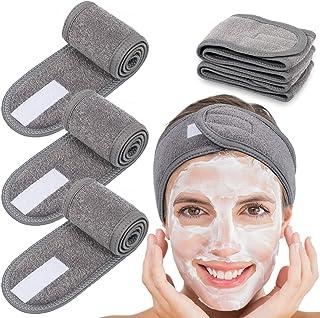 Whaline 4 Counts Spa Facial Headband Head Wrap Terry Cloth