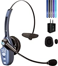 VXI BlueParrott B250-XTS Bluetooth Headset with 91% Noise Cancellation Bundle with Blucoil USB Wall Adapter and 5-Pack of Reusable Cable Ties