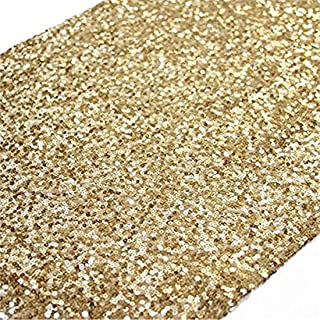 12''x108'' Gold Sequin Table Runner, Sequin Table Cloth, Sequin Tablecloths, Sequin Linens