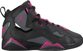 Jordan Kids True Flight GG Black Dark Grey Deadly Pink Size 6.5