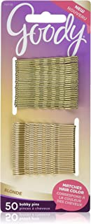 Goody WoMens Colour Collection Metallic Finish Bobby Pin, Blonde, 50 Count (Pack of 3)