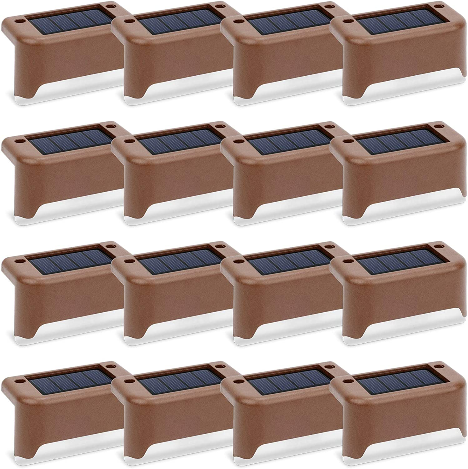 Solar Deck Lights NEW 16 Pcs Outdoor Step L Waterproof Genuine Free Shipping