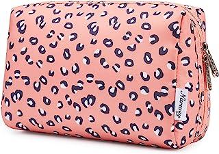 کیف آرایشی بزرگ زیپ کیف مسافرتی لوازم آرایشی مسافرتی برای زنان و دختران (بزرگ ، پلنگی)