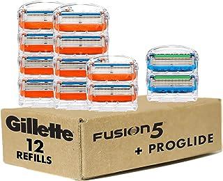 Gillette Fusion5 Men's Razor Blade Refills, 10 Count + Fusion5 ProGlide Razor Blade Refills - 2...