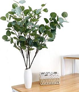 SANEKI Eucalipto plantas artificiales 4 piezas Eucalipto