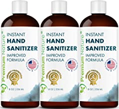 Instant Hand Sanitize Gel - Value Size Advanced Natural Hand Sanitize Cleaner Portable Aloe Vera Moisturizer Packaging May Vary (3 Pack 8 oz (3 x 8 oz))
